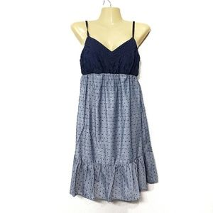 Maurices Blue Dress Dots NWT